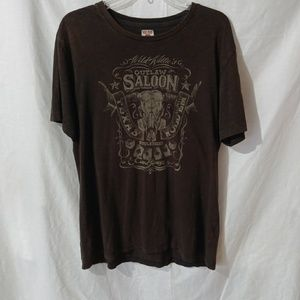 Lucky Brand Willie's Outlaw Saloon T-Shirt Men's L